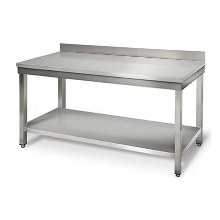 Table inox 1600 x 700 mm adossée / GOLDINOX