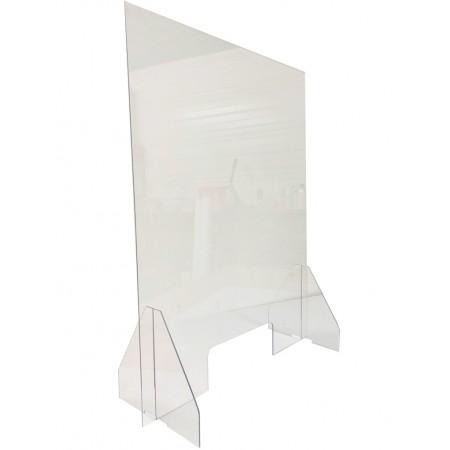 Ecran de protection en plexiglas avec ouverture - 600 x 800 mm / RESTONOBLE