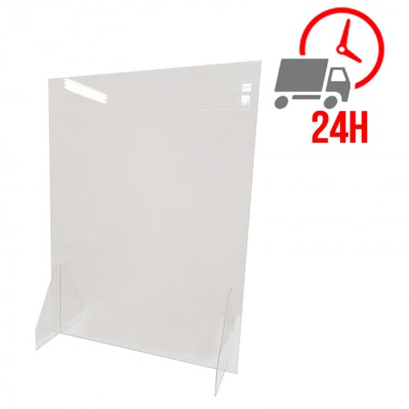 Ecran de protection en plexiglas sans ouverture - 600 x 800 mm / RESTONOBLE