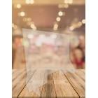 Ecran de protection en plexiglas avec ouverture - 800 x 600 mm / RESTONOBLE