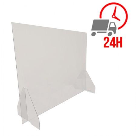 Ecran de protection en plexiglas sans ouverture - 800 x 600 mm / RESTONOBLE
