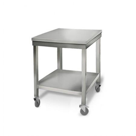 Table inox 600 x 700 mm sur roulettes / RESTONOBLE