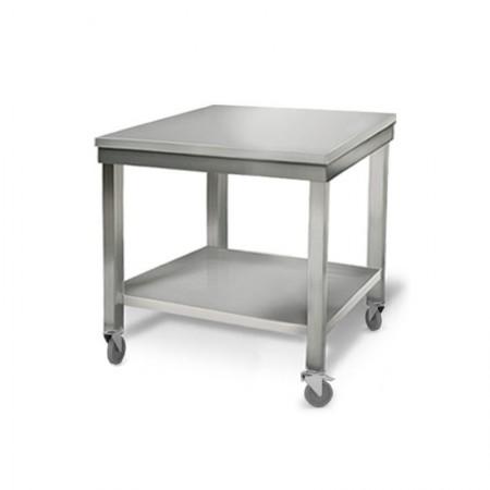 Table inox 800 x 700 mm sur roulettes / RESTONOBLE