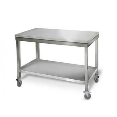 Table inox 1000 x 700 mm sur roulettes / GOLDINOX