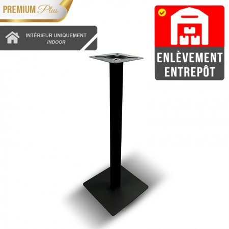 Pied de table haut Métal noir / RESTONOBLE | Enlèvement Entrepôt