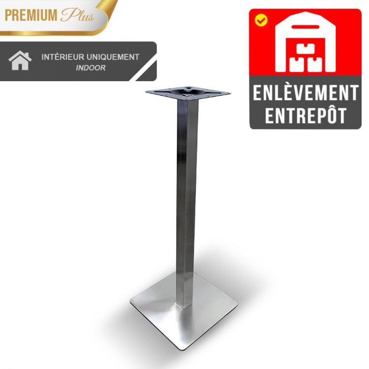 Pied de table haut Métal inox / RESTONOBLE   Enlèvement Entrepôt