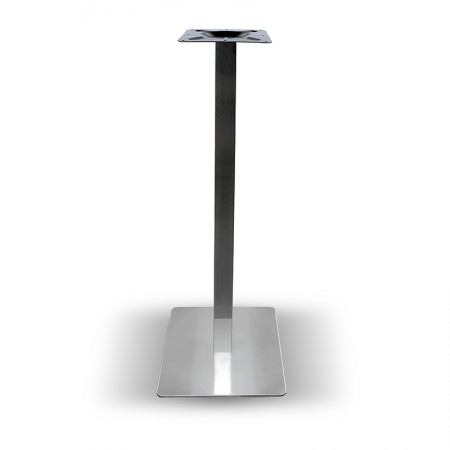 Pied de table haut Métal inox / RESTONOBLE