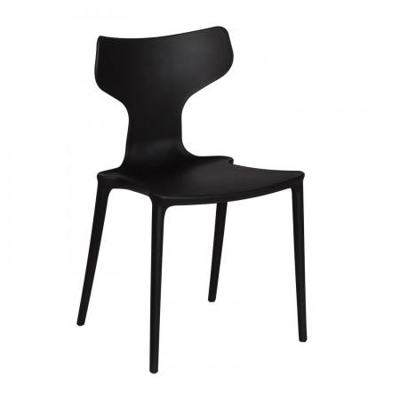 Chaise Lana noir - Polypropylène / RESTONOBLE