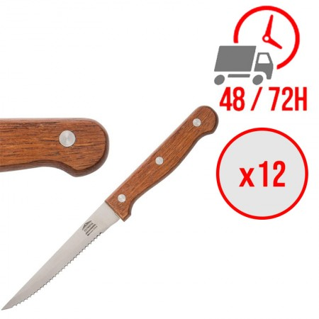 couteaux à viande 215 mm bois / x12 / Olympia