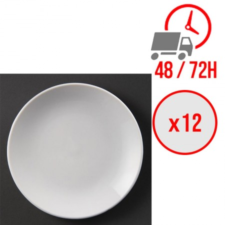 Assiettes plates rondes (Ø180 mm) / x12 / Olympia