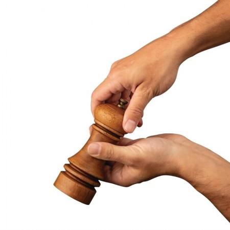 Moulin à sel et poivre en bois effet vieilli (150 mm) / Olympia