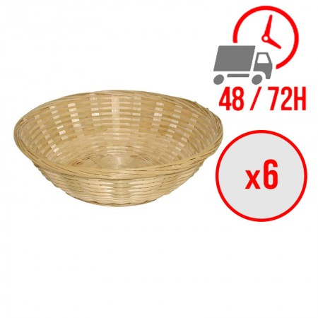 Corbeille à pain en osier ronde / x6 / Olympia