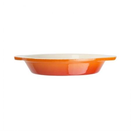 plat à gratin rond orange Ø150 mm / x1 / Vogue