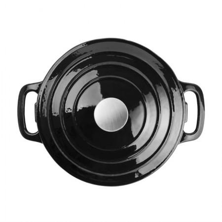 Grande cocote ronde noir Ø235 mm / x1 / Vogue