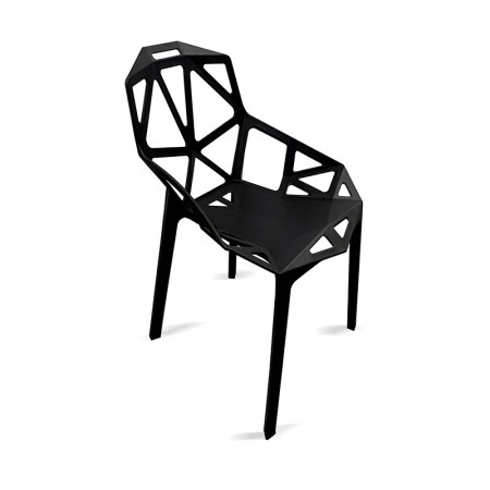 Chaise Ruby - Noir (lot de 2) / RESTONOBLE