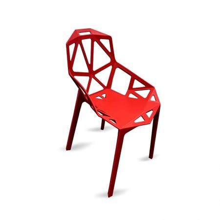 Chaise Ruby - Rouge (lot de 2) / RESTONOBLE