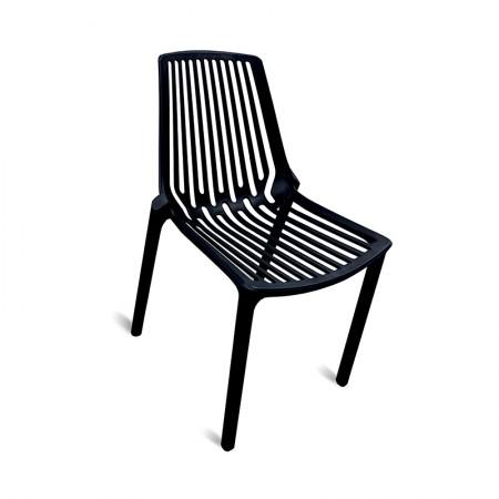 Chaise Suzy - Noir (lot de 2) / RESTONOBLE
