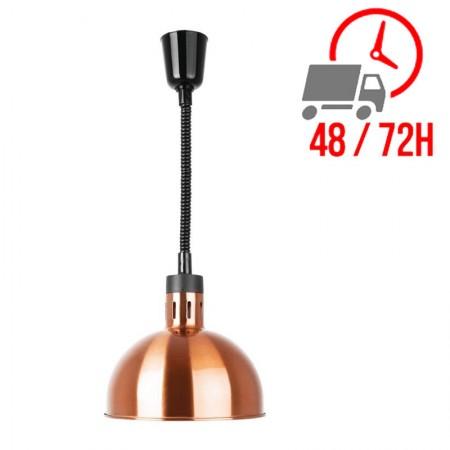 Lampe chauffante dôme rétractable finition cuivre / Buffalo