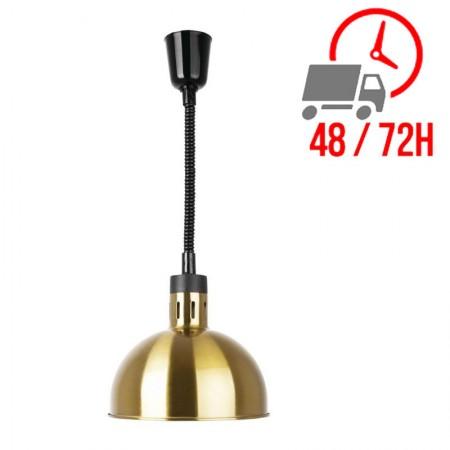 Lampe chauffante dôme rétractable finition doré / Buffalo