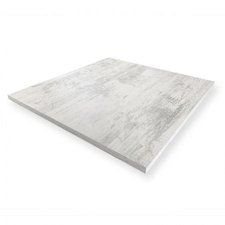 Plateau de table 60x60 cm - Blanc Antique / RESTONOBLE | Enlèvement Entrepôt