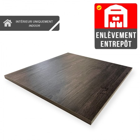 Plateau de table 70x70 cm - Volcanique / RESTONOBLE | Enlèvement Entrepôt