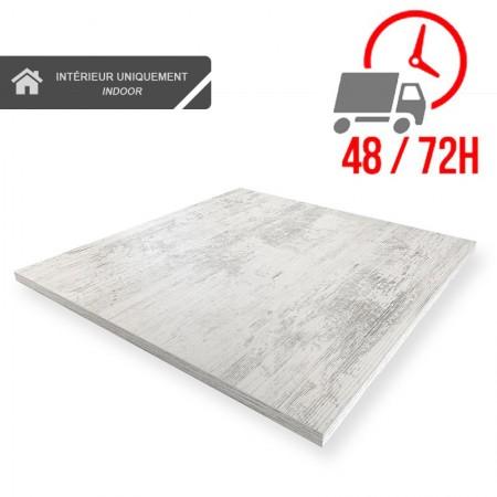 Plateau de table 70x70 cm - Blanc Antique / RESTONOBLE