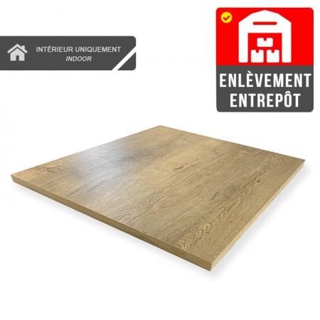 Plateau de table 50x50 cm - Chêne / RESTONOBLE | Enlèvement Entrepôt