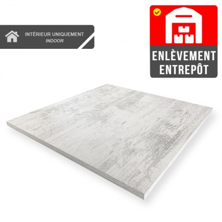 Plateau de table 50x50 cm - Blanc Antique / RESTONOBLE | Enlèvement Entrepôt