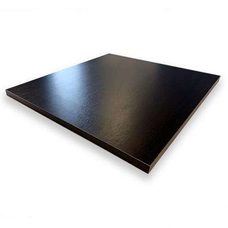 Plateau de table 60x60 cm - Wengé / RESTONOBLE | Enlèvement Entrepôt