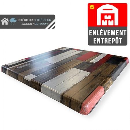 Plateau de table 60x60 cm stratifié - Rétro / RESTONOBLE | Enlèvement entrepôt