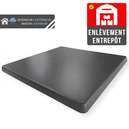 Plateau de table 60x60 cm stratifié - Anthracite / RESTONOBLE | Enlèvement entrepôt