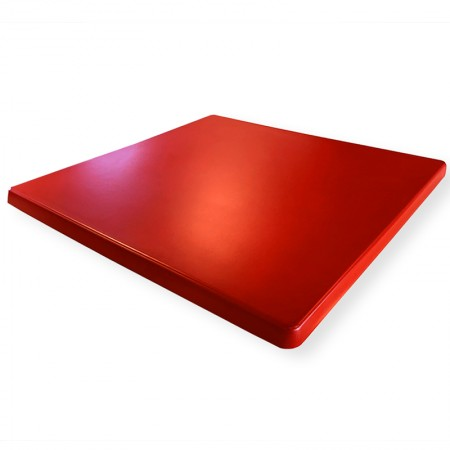 Plateau de table 60x60 cm stratifié - Rouge / RESTONOBLE | Enlèvement entrepôt