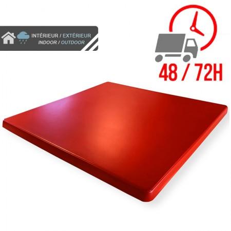 Plateau de table 70x70 cm stratifié - Rouge / RESTONOBLE