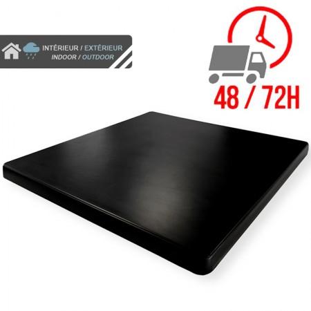 Plateau de table 70x70 cm stratifié - Noir / RESTONOBLE