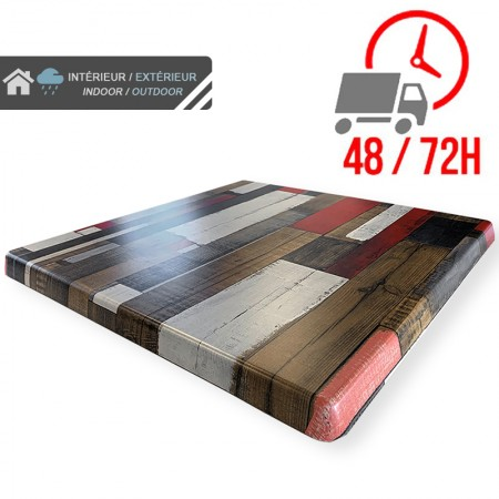 Plateau de table 70x70 cm stratifié - Rétro / RESTONOBLE