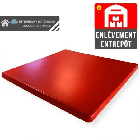 Plateau de table 70x70 cm stratifié - Rouge / RESTONOBLE | Enlèvement entrepôt