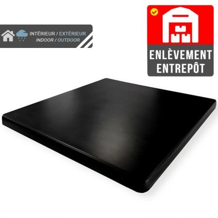 Plateau de table 70x70 cm stratifié - Noir / RESTONOBLE | Enlèvement entrepôt