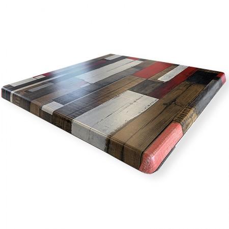 Plateau de table 70x70 cm stratifié - Rétro / RESTONOBLE | Enlèvement entrepôt