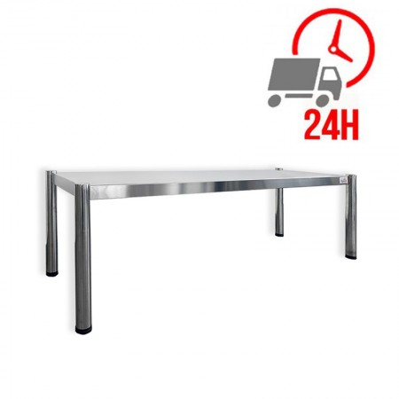 Passe-plat inox 2000 x 350 mm - Hauteur 400 mm / RESTONOBLE