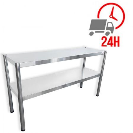 Passe-plat inox 1400 x 350 mm - Hauteur 700 mm / RESTONOBLE