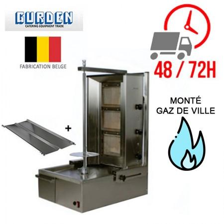 Machine à kebab 3 feux Gaz de ville / GURDEN