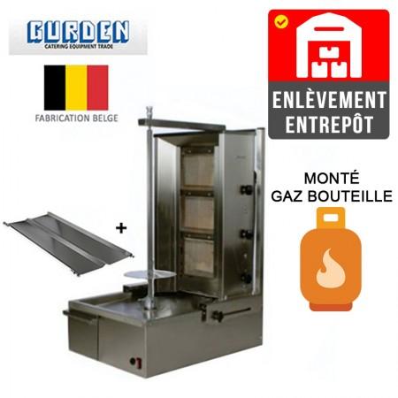 Machine à kebab 3 feux Gaz bouteille / GURDEN | Enlèvement entrepôt