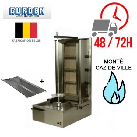Machine à kebab 4 feux Gaz de ville / GURDEN