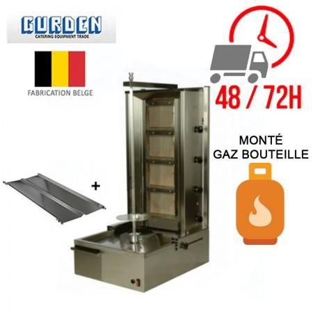 Machine à kebab 4 feux Gaz bouteille / GURDEN