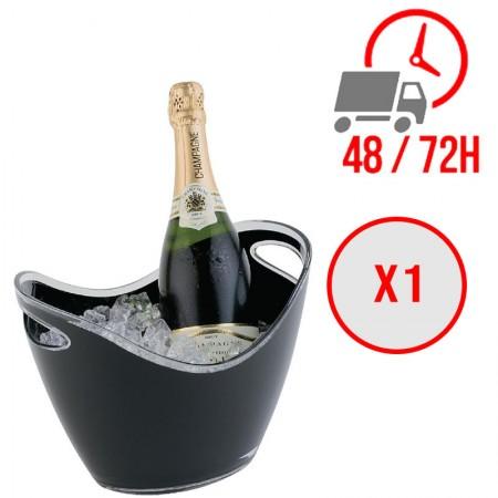 Seau à vin ou champagne noir pour 2 bouteilles / APS