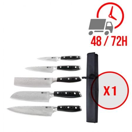 Kit de 5 couteaux japonais avec étui / Tsuki