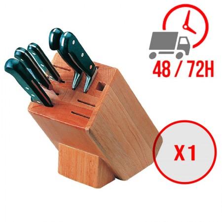 Bloc porte-couteaux en bois 9 pièces / Vogue