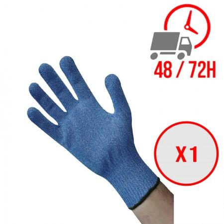 Gant anti coupure bleu