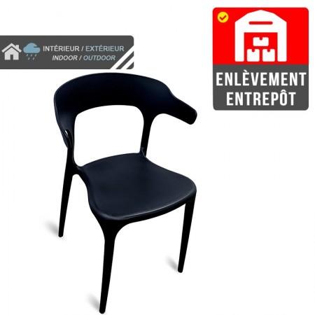 Chaise Lana - Noir | Enlèvement entrepôt / RESTONOBLE