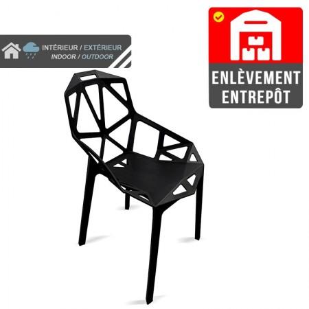 Chaise Ruby - Noir (lot de 2) | Enlèvement entrepôt / RESTONOBLE